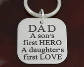 Dad - A Son's First Hero / A Daughter's First Love - Price Includes Personalization on the Back!