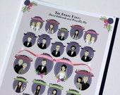 Bridal Party Portrait Programs (Profiles) : Custom Illustrated