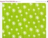 Closing Shop Home Dec Fabric Yardage - Small Dandelion - Grass Green and White - Premier Prints - 1 Yard