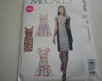 Pattern Women Plus Size Dress 4 Styles Sizes 14 to 22 McCalls P346 A