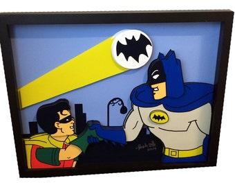 Batman 1966 TV Show Batman and Robin Comic Movie Poster 3D Pop Art Print