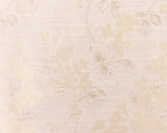 Custom Curtains with Ivory / Cream / Beige Floral Pattern One Panel with lining Custom sizes available