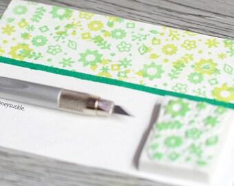 floral rubber stamp, pattern stamp, floral pattern rubber stamp, cute rubber stamp, blossom rubber stamp, flower stamp, stamp for kids