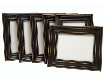 Rustic Picture Frame Picture Frame Set 5x7 Picture Frame Black Picture Frames Distressed Shabby Chic Picture Frame Wall Decor Wedding Custom