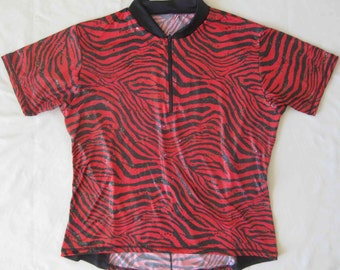 SALE - Girly Bike Jersey Animal Print with Shimmer and sparkles