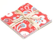 """Twice as Nice 5"""" Squares Charm Pack by The Quilted Fish for Riley Blake, 21 pieces"""