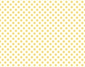 Dots Yellow on White Small by RBD Designers for Riley Blake, 1/2 yard