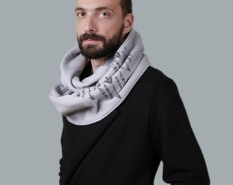 50% OFF: The Grey Infinity scarf for men