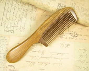 Special Fine Teeth Fragrant Verawood Hair Care Comb