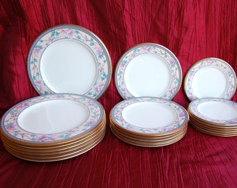 """Noritake Bone China 9756 """"Embassy Suite"""" Choose Separately or All Dinner Plates Salad Plates Bread & Butter Plates"""
