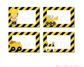 PRINTABLE Construction Party Label Tents #521