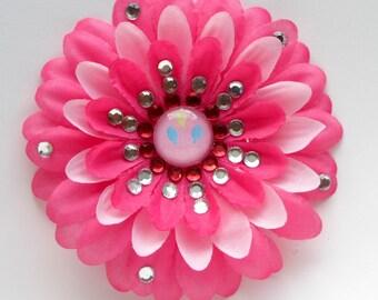 Pinkie Pie Penny Blossom Sparkly Rhinestone Flower Barrette