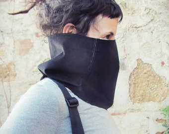 Ready to ship // Collar SCARF // Snood // Reversible // Black and colors