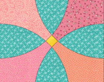 Flowering Snowball acrylic quilt templates