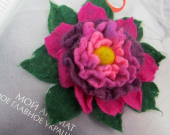 SALE Felted  Brooch flower Eco-fiendly Brooches on Etsy