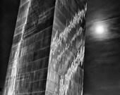 St. Louis Gateway Arch and Full Moon in St. Louis Missouri - Fine Art Photograph 5x7 8x10 11x14 16x20 24x30