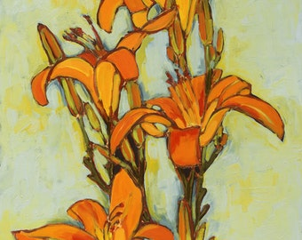 Tiger Lily 3--20x16--fine art giclee print