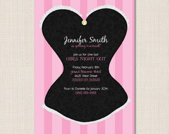 CLASSY CORSET Bachelorette Party Invite - DEPOSIT