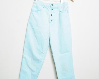 Vintage 80s/90s Light Washed Mint High Waisted Sexy Jeans Small Women
