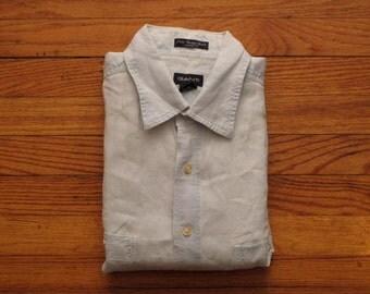 mens vintage Gant linen work shirt