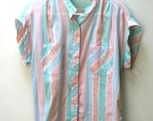 1980's Shirt Stop Striped Top