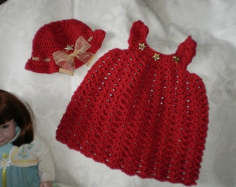 Shining Star Red Pinafore for 12+ Months