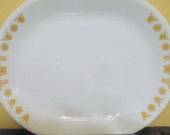 Vintage Corelle - ( Corning ) - Butterfly Gold Meat / Serving Platter  - EUC - Read Description