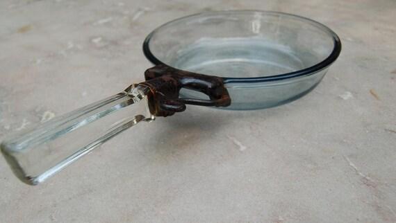 pyrex flameware po le m tal verre poign e vintage 817b. Black Bedroom Furniture Sets. Home Design Ideas