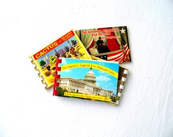 Vintage Postcard Booklets, Mid Century Collectible Postcards, Places of Interest in the US