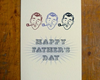 Retro Fiftie's Father's Day Card FREE UK P&P Dad Daddy Grandfather Grandad Vintage Card
