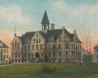 Fargo College and Dill Hall FARGO North Dakota Unused Vintage Postcard Amazing Architecture
