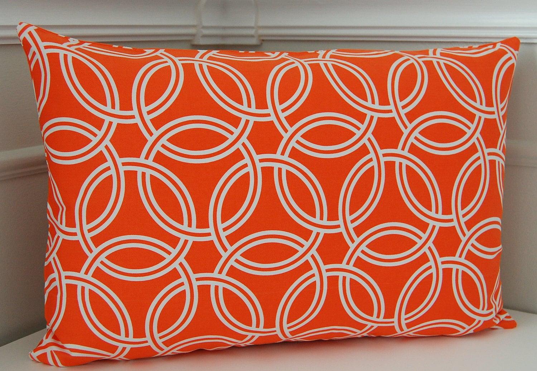 Orange Decorative Pillow Cover Orange Geometric Throw