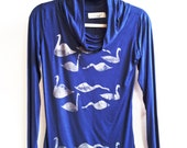 20% Off Electric Blue Silver Swan Sweater