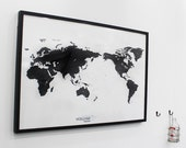 Black and White World Map Simple is the Best Draw your Dreams around the World