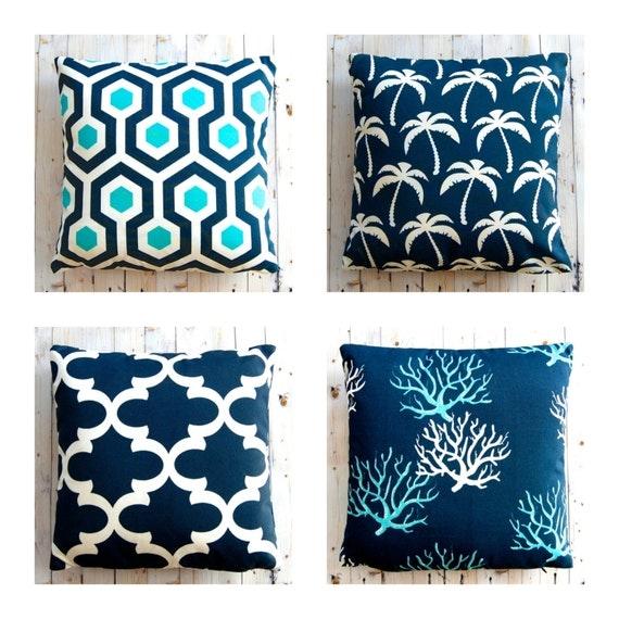 Outdoor Pillow Cover Outdoor Cushion Blue Outdoor Pillow