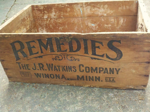 Wooden Box Wooden Crate Antique Medical Advertisement