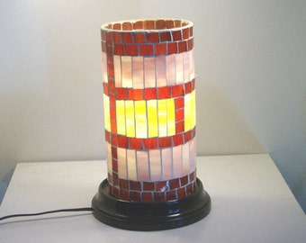 Stained Glass Mosaic Table Lamp Electric Lighting Accent Lamp Home Decor Decorative Lighting