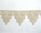 Half Yard Venice Lace Gold Golden Flag Bunting Venise Crazy Quilting Bridal