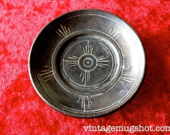"Dead Sea Carved Stone 3 1/4""  Vintage Souvenir Small Dish"