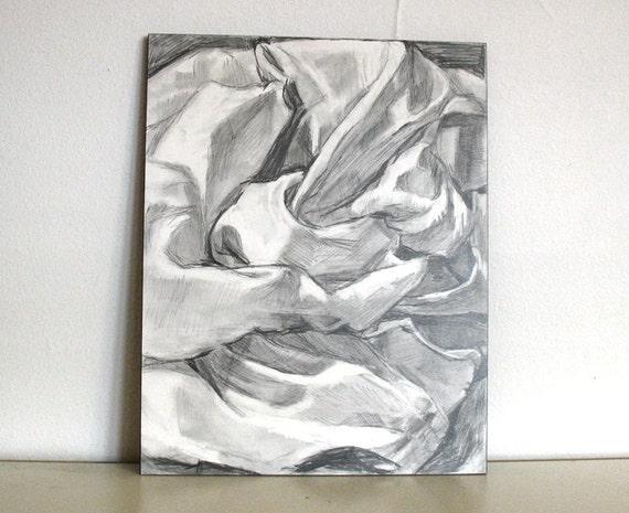 Items similar to original pencil drawing 11x14 black and - Telas para sombra ...