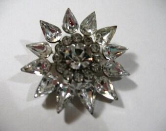 Vintage Rhinestone Starburst Brooch