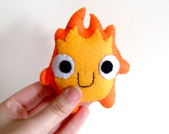 very cute calcifer (howl's moving castle) fire plush