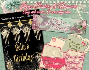 Personalized Party Banners and Posters