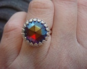 Rose Cut Crystal Ring