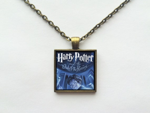 Harry Potter and the Order of the Phoenix Book Cover Necklace OR Keychain