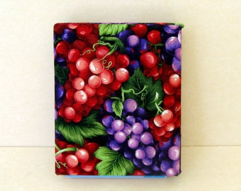 Fabric covered notebook cover, kitchen notebook,  office notebook