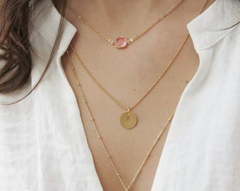 Personalized Birthstone Necklace | Birthstone Necklace | Gold Birthstone Necklace | Silver Birthstone Necklace | Bridesmaids Necklace
