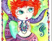 Instant Download Art Dream Mermaid Art  Digital Graphics Digi Files