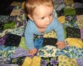 Violet Patchwork Minky Baby Blanket