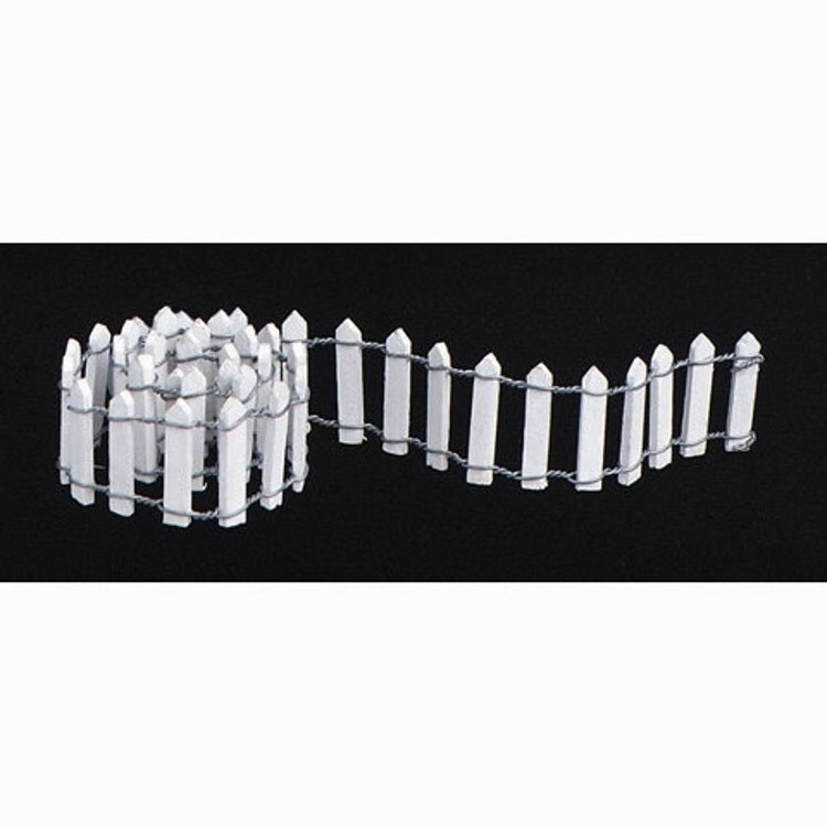 Miniature White Wooden Picket Fence 18 X 1 Inch By